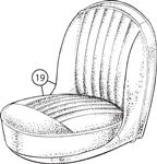 Triumph TR4 CT15274 to CT20876 Front Seat Cover Kits