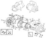 Triumph TR6 Starter Motor & Components to CP53636/CC63895