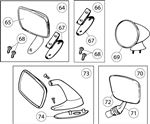 Triumph TR6 Door Mirrors and Fittings