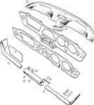 Triumph TR6 Crash Pads and Ashtray