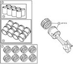 Rover V8 Piston Sets, Cylinder Liner Sets and Piston Ring Sets