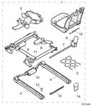 Rover 75 V8/MG ZT260 Front Seat Frame and Fittings - Memory