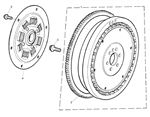 Rover 400/45/MG ZS Flywheel, Driven Plate - 1800 Petrol Auto
