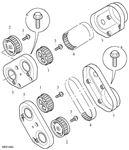 Rover 400/45/MG ZS Timing Belt, Timing Belt Cover - Rear - 2500 Petrol V6 K Series