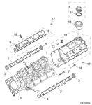 Rover 400/45/MG ZS Camshaft Cover, Manual - 2500 Petrol V6 K Series