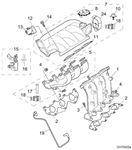 Rover 400/45/MG ZS Inlet Manifold - 2000 Petrol V6 K Series