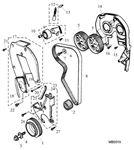 Rover 400/45/MG ZS Timing Belt, Timing Belt Cover - 1600 Petrol 16V DOHC