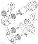 Rover 75/MG ZT Timing Belt, Timing Belt Cover - Rear - 2500 Petrol V6