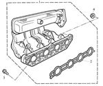 Rover 200/25/MG ZR Inlet Manifold - Plastic - 1600 Petrol 16V DOHC