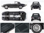 Jaguar E-Type Series 1 Model 1:43 Scale Black - JDCAETBL