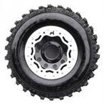 Terrafirma Steel Bead Lock Wheel - Black Modular - 7 x 16 - ET08 + BL - LL1715TFBL