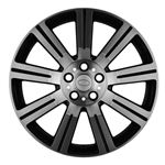 Alloy Wheel Stormer 20 x 9.5 Black and Polished - Aftermarket