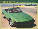 Advertising Print - Green TR8 Convertible - LHD