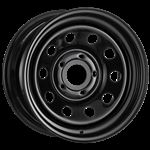 Steel Wheel Modular - 16 x 8 Black - Aftermarket - Discovery 2 and Range Rover P38