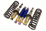 GAZ Front and Rear Shock Absorber Kit - Ride/Height Adjustable Front - with Uprated Front Springs - Rotoflex GT6