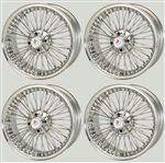 Wire Wheel Set of 4 - 7x16 Bolt On Conversion Kit - RP1106K