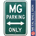 MG Parking Only Metal Sign - Green 45 X 30CM