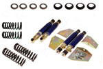 GAZ Front and Rear (Conversion) Shock Absorber Kit - Adjustable - with Uprated/Lowered Springs - TR4A-6 - RR1411GAZ