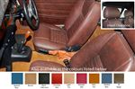 TR4-6 Suffolk Seats with Head Rests - Leather - Pair - RR1542
