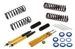 Spax KSX Front Insert and Rear Shock Absorber Kit - Adjustable On Car - Inc. Springs - Strut Gaiters - Poly Insulators - RS2008SPAXPL