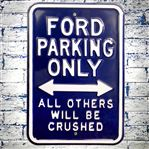 Ford Parking Only Blue Metal Sign 45X30CM