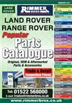 Rimmer Bros Land Rover Popular Parts Catalogue Feb 2017