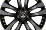 Rear Alloy Wheel - Single - Tornado 20 Inch Black - T2R3289 - Genuine Jaguar