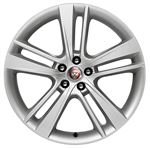Front Alloy Wheel - Single - Cyclone 20 Inch Silver - T2R4745 - Genuine Jaguar