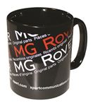 MG Rover Genuine Parts Black Porcelain Mug