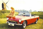Poster - MGB and Windmill 1971 - Genuine MG Rover