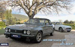 LHD 1980 Scimitar GTC & 1971 MGB GT