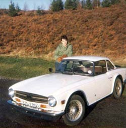 Bill and TR6 1979