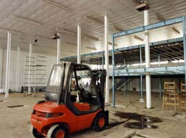 1991 Mezzanine floor being built