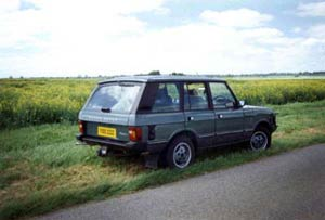 Graham's 1st Range Rover shortly before launching the Range Rover Catalogue 1999