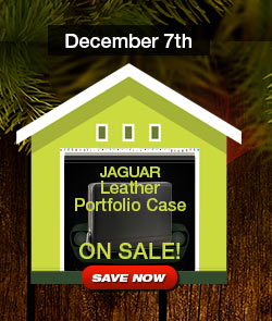 Jaguar Leather Portfolio Case Sale