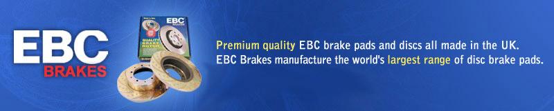 Premium quality EBC brake pads and rotators all made in the UK.