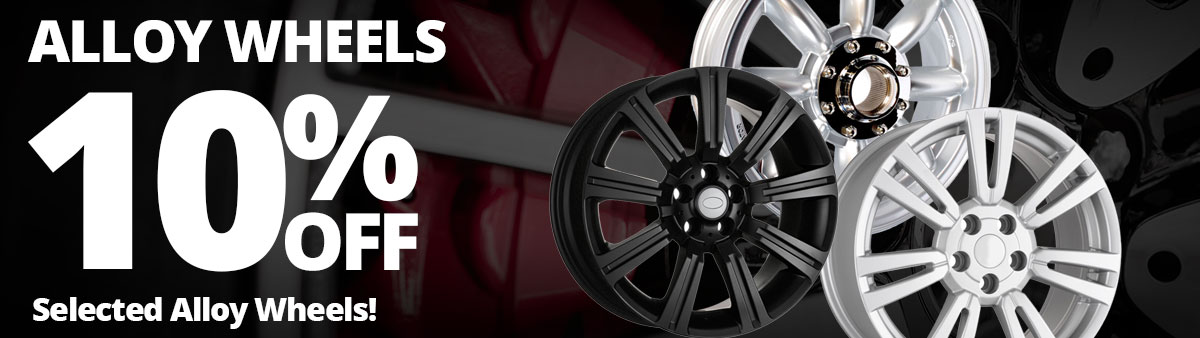 10% Off Selected Alloy Wheels