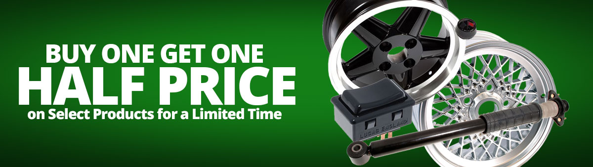 Buy One Get One Half Price on Select Products for a limited time