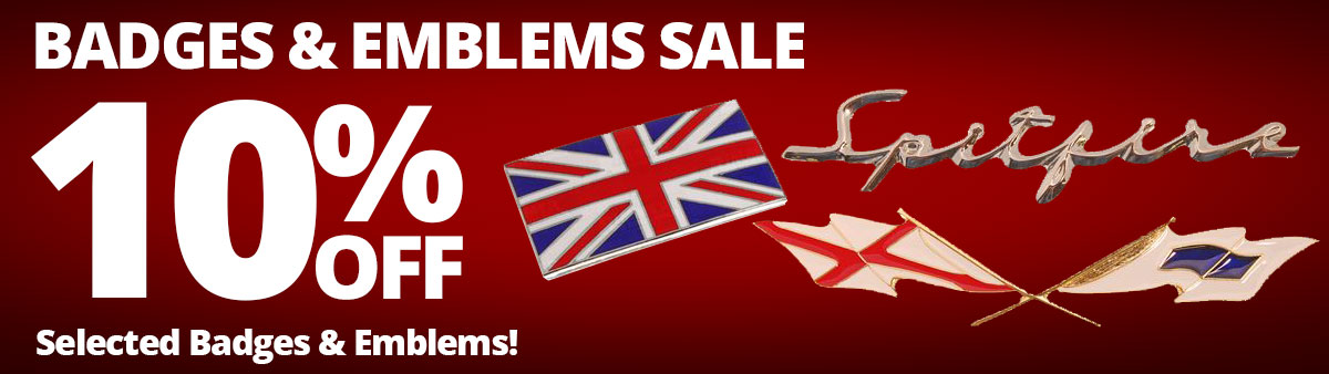 Badges and Emblems Sale - 10% Off Selected Badges and Emblems