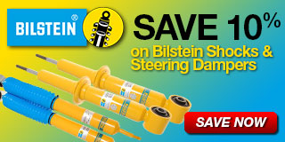 10% Off Bilstein Shocks and Steering Dampers