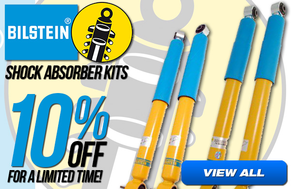 Save 10% on Bilstein Shock Absorber Kits