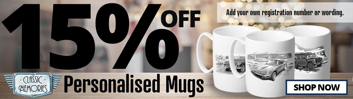 15% Off Classic Memories Mugs