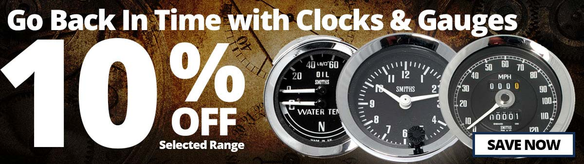 10% Off Selected Clocks and Gauges