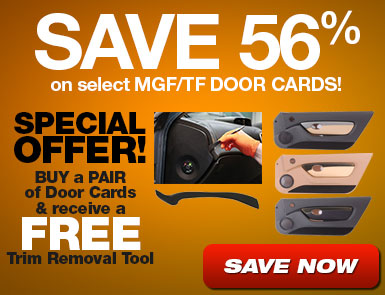 Save 56% on select door cards plus BUY a PAIR of Door Cards and receive a FREE Trim Removal Tool