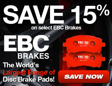 Save 15% on select EBC Brakes