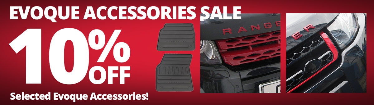 10% Off Selected Range Rover Evoque Accessories