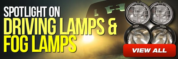 Spotlight on driving lamps and fog lamps