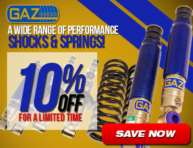 GAZ Shocks - 10% Off for a limited time