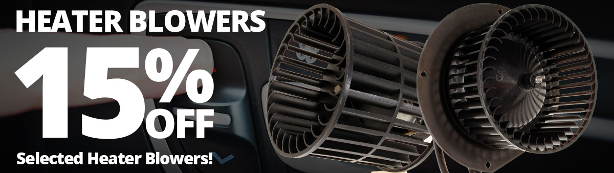 15% off Heater Blowers