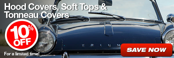 10% Off Hood Covers, Soft Tops and Tonneau Covers